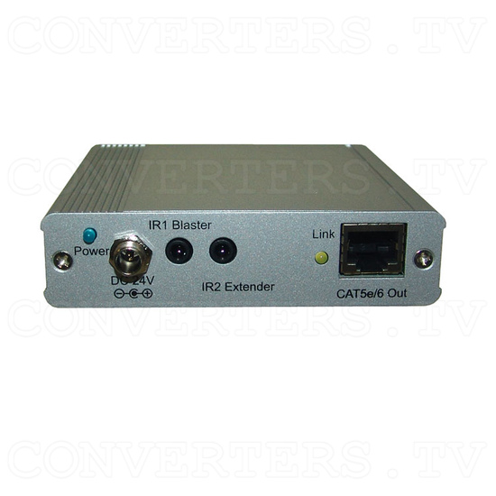 HDBaseT HDMI/IR/RS-232/PoE to CAT5e/6/7 Transmitter - Back View