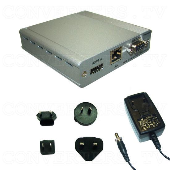 HDBaseT HDMI/IR/RS-232/PoE to CAT5e/6/7 Transmitter - Full Kit