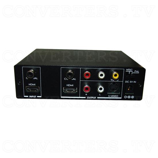 HDMI to Video CV/SV Down Scaler w/ HDMI pass-thru - Back View