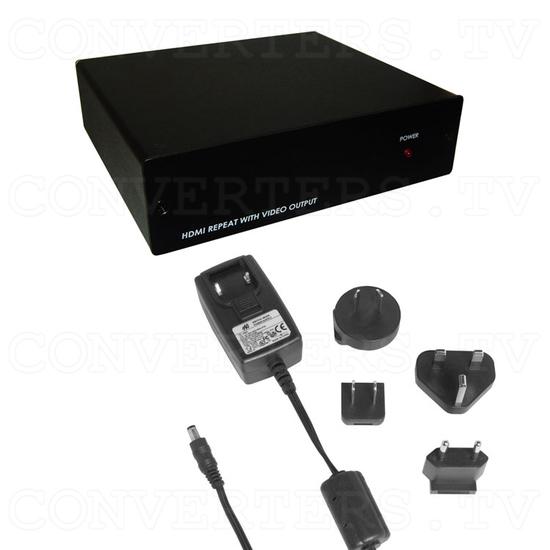 HDMI to Video CV/SV Down Scaler w/ HDMI pass-thru - Full Kit
