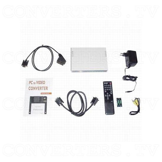 VGA to NTSC / PAL Video Converter / Convertor (CPT-360) - Full Kit