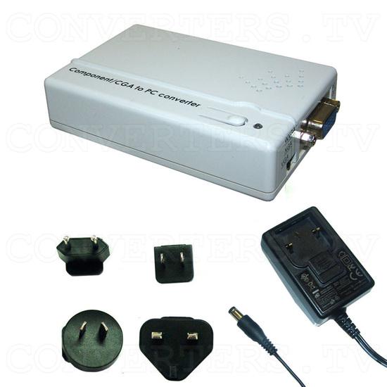 CGA RGB and Component YCbCr to WXGA Upscaler - Full Kit