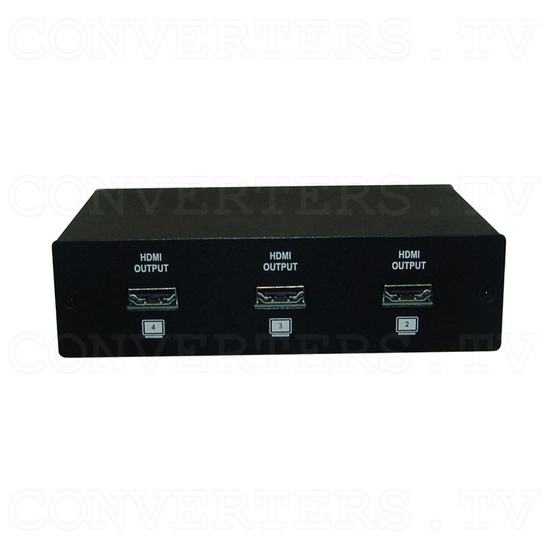HDMI v1.3 1 In 4 Out with Multi-Channel Splitter - Back View