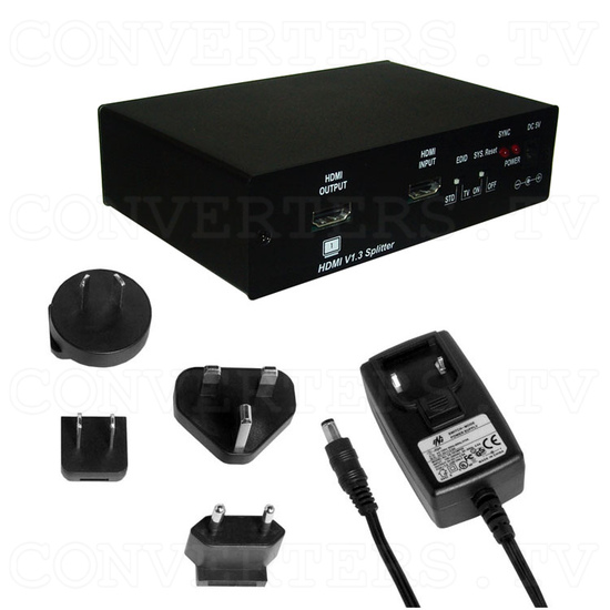 HDMI v1.3 1 In 4 Out with Multi-Channel Splitter - Full Kit