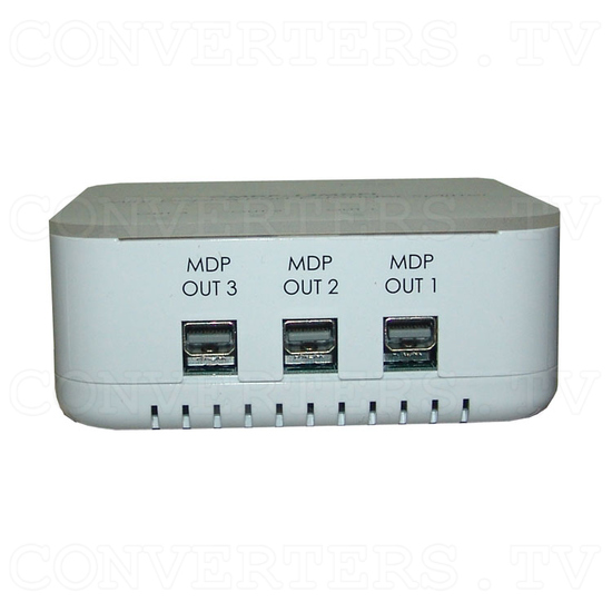 Mini DisplayPort 1 In 3 Out Extender Splitter - Front View