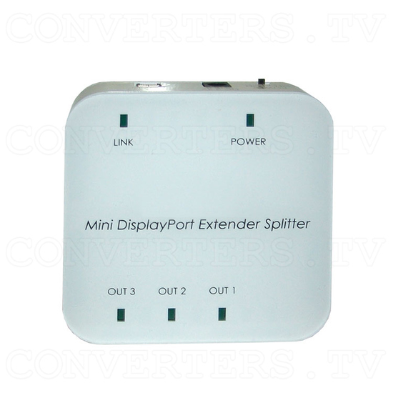 Mini DisplayPort 1 In 3 Out Extender Splitter - Top View