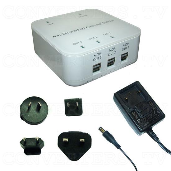 Mini DisplayPort 1 In 3 Out Extender Splitter - Full Kit