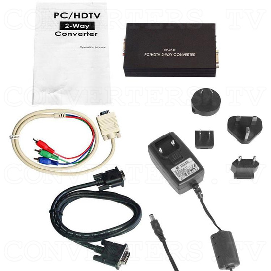 RGB Sync on Green 31k to VGA / HDTV Converter - Full Kit