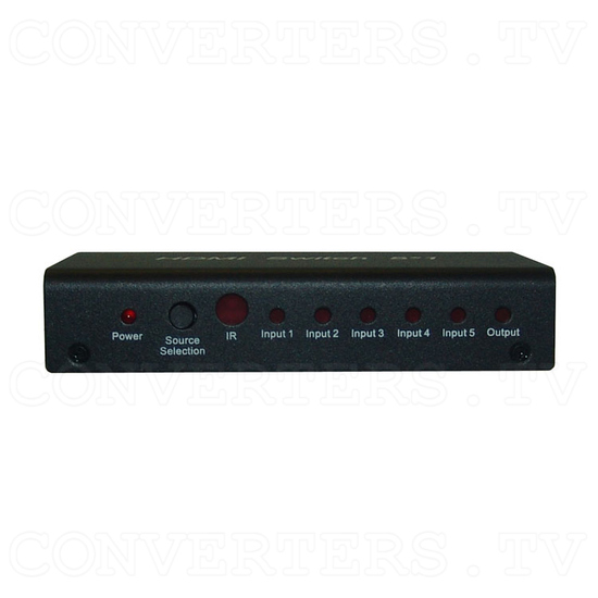 HDMI Switch 5 in 1 out - Front View