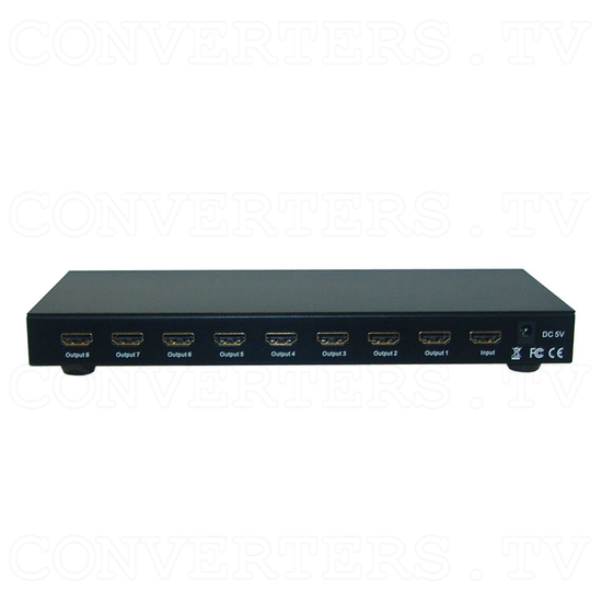 HDMI Splitter 1 in 8 out - Back View