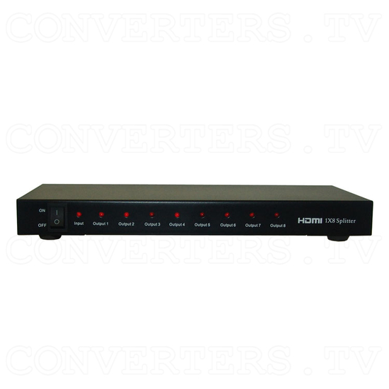 HDMI Splitter 1 in 8 out - Front View
