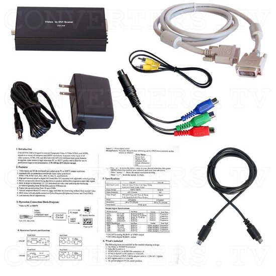PAL or NTSC to DVI Converter - Full Kit