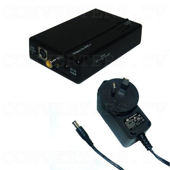 CVBS/SV to DVI-I Converter - Full Kit
