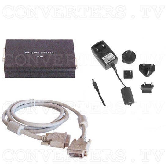 DVI to VGA Scaler Box - Full Kit