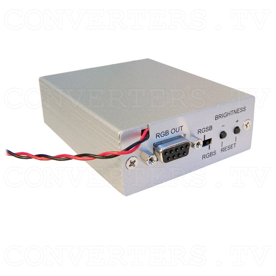 Video (PAL or NTSC) to RGB Converter with 12v Relay Switch for Reverse Camera - Full View