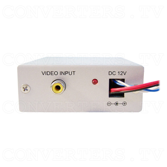 Video (PAL or NTSC) to RGB Converter with 12v Relay Switch for Reverse Camera - Front View