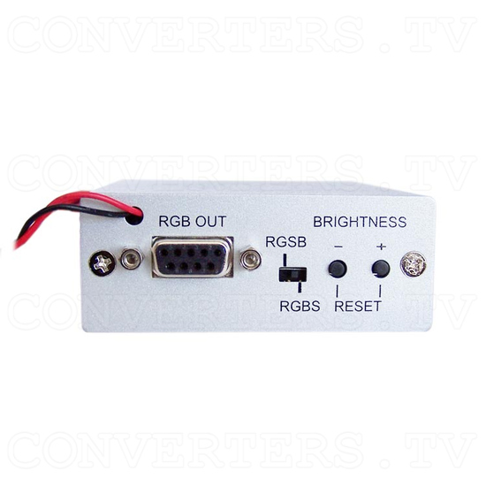 Video (PAL or NTSC) to RGB Converter with 12v Relay Switch for Reverse Camera - Back View
