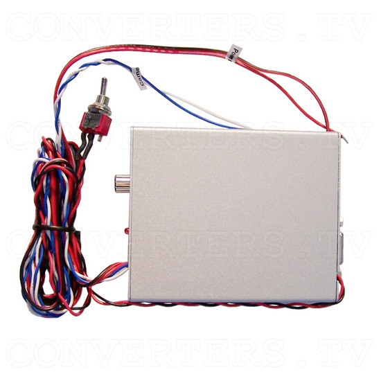 Video (PAL or NTSC) to RGB Converter with 12v Relay Switch for Reverse Camera - Top View