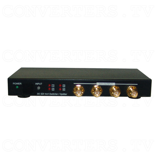 3G-SDI 4 In 4 Out Switcher and Splitter - Front View