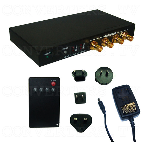 3G-SDI 4 In 4 Out Switcher and Splitter - Full Kit