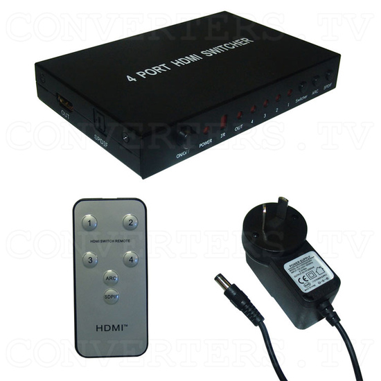 HDMI Switch 4 in 1 out - Full Kit