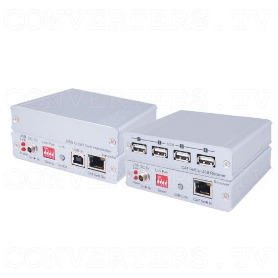 CAT5e/6 to USB 2.0 Receiver - Full View