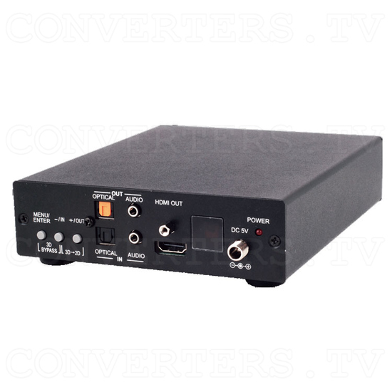 HDMI DisplayPort VGA 3D-2D Scaler with 3D Bypass - Full View