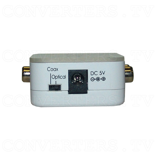 Coaxial/Optical to R/L Audio Converter -192kHz - Side View