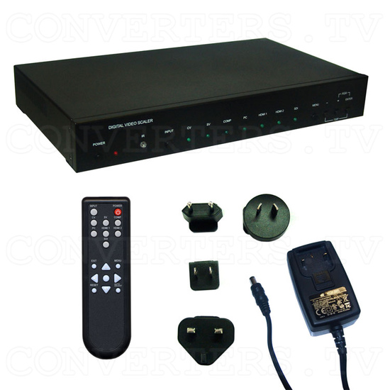 Multi Video to HDMI and VGA Scaler Format Converter - Full Kit