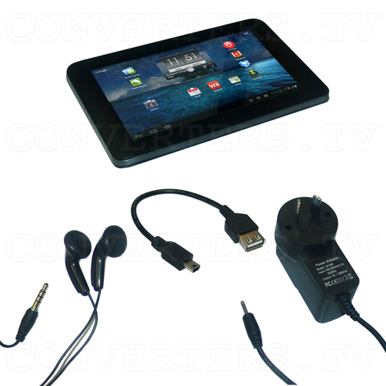 7 Inch Android Tablet 4.0 1.5GHz 8GB with Free Keyboard and Leather Cover (black) - Full Kit