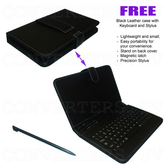 7 Inch Android Tablet 4.0 1.5GHz 8GB with Free Keyboard and Leather Cover (black) - Free Accessory
