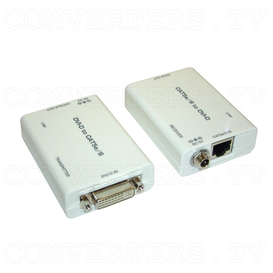 DVI over CAT5e/6 Transmitter and Receiver - Full View