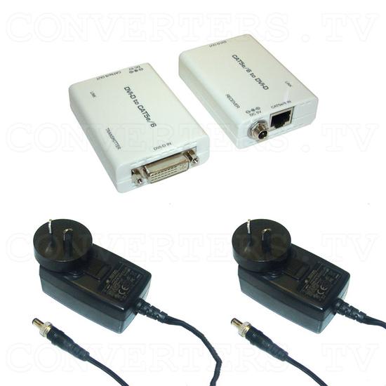 DVI over CAT5e/6 Transmitter and Receiver - Full Kit