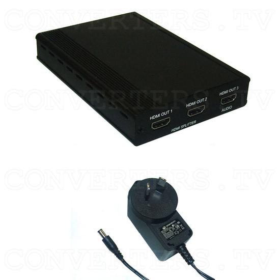 3D HDMI 1 In 2 Out Splitter - Full Kit