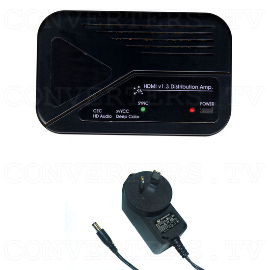 HDMI v1.3 1 In 2 Out Splitter with CEC - Full Kit