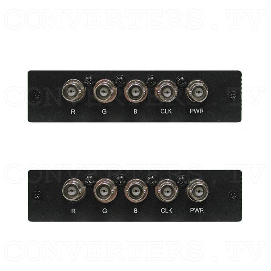 Coaxial HDMI Transmitter and Receiver Box - Back Views