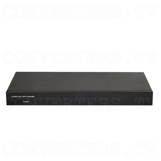 HDBaseT 8 HDMI to 8 Single CAT6 Transmitter - Front View