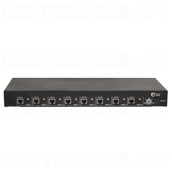 HDBaseT 8 HDMI to 8 Single CAT6 Transmitter - Back View