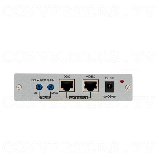 DVI Over CAT5 Receiver Box - 100 meters - Back View