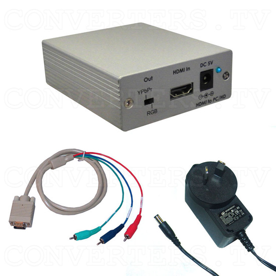 HDMI to PC/Component Converter with Audio Box - Full Kit