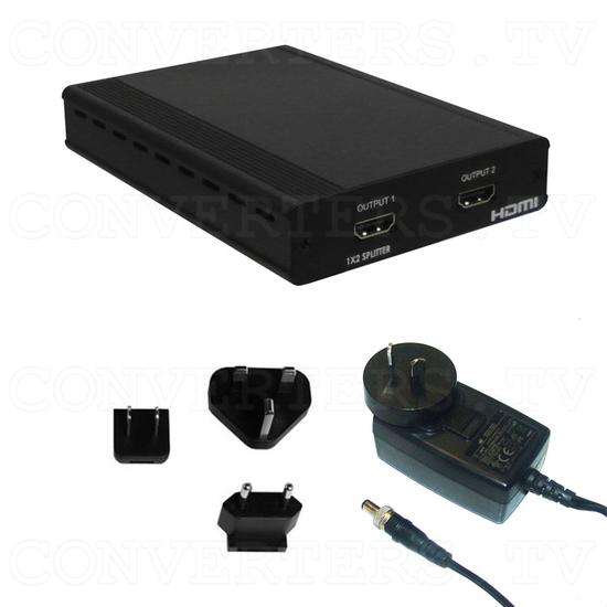 HDMI 1 In 2 Out Splitter - Full Kit