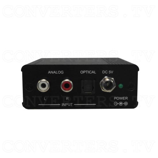 Analog Digital Audio to HDMI Inserter Bridge - Back View