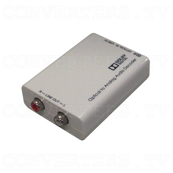 Optical to Analog Audio Converter with Dolby Digital Decoder - Full View