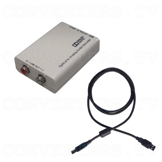 Optical to Analog Audio Converter with Dolby Digital Decoder - Full Kit