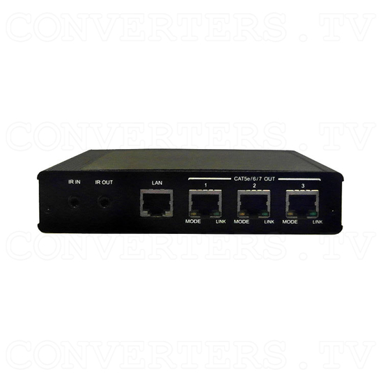 HDBaseT 1x4 HDMI over CAT5e/6/7 Transmitter-Splitter - Front View
