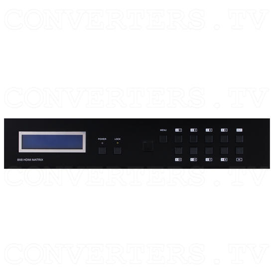 HDMI 8x8 Matrix with HDMI and Twin CAT6 Output - Front View