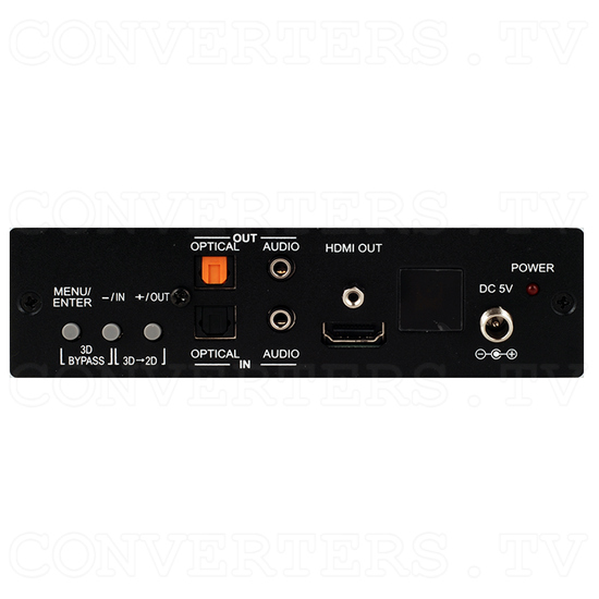 HDMI DisplayPort VGA 3D-2D Scaler with 3D Bypass - Front View