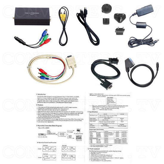 SCART Video to XGA / HDTV Converter - Full Kit