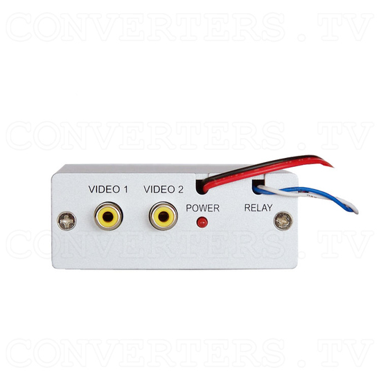 Dual Video (PAL or NTSC) to RGB Converter with 12v Relay Switch - Front View
