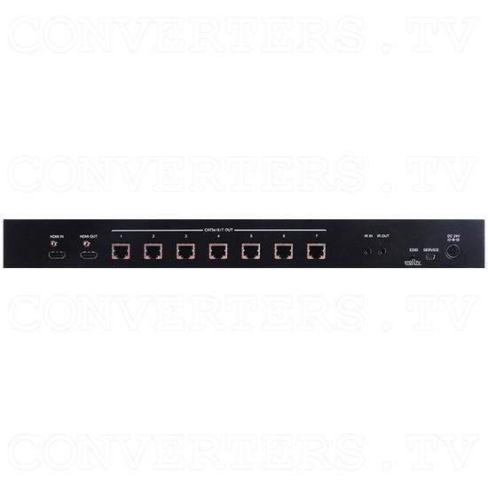 HDBaseT-Lite 1x8 HDMI over CAT5e/6/7 Transmitter-Splitter up to 4K2K - Back View
